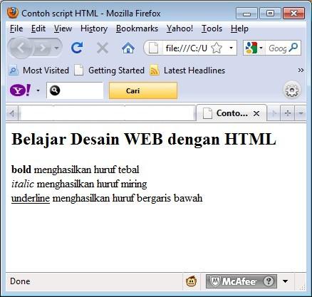 PROGRAMMING WEB: HTML (Hyper Text Markup Language)