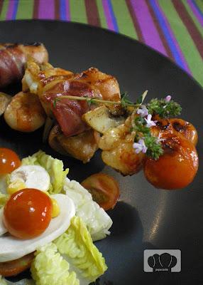 Brocheta de rape pepa cooks for Comida rapida para invitados