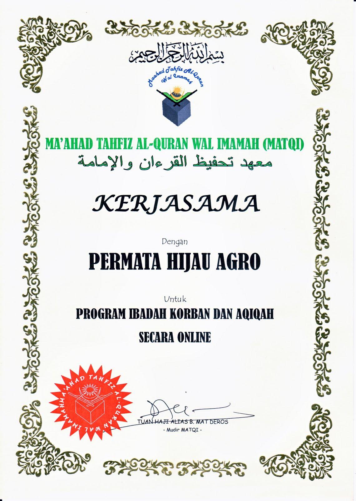 projekmeru.blogspot.com: Korban & Aqiqah Secara On Line
