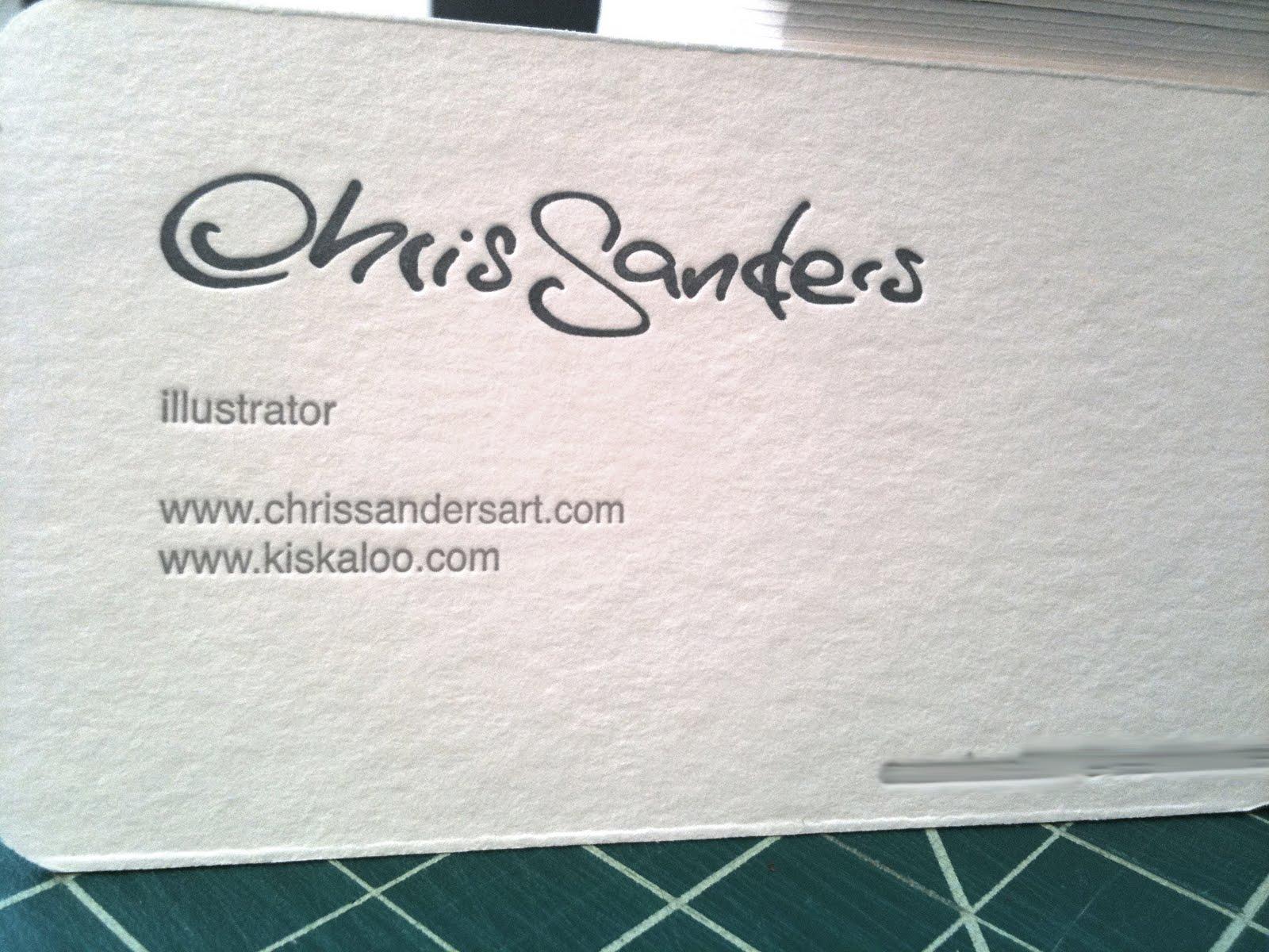 mandy sechrist\'s blog: A Chris Sanders business card