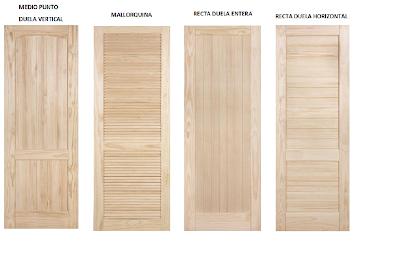 Puertas de exterior e interior puertas macizas en madera for Carpinteria interior de madera