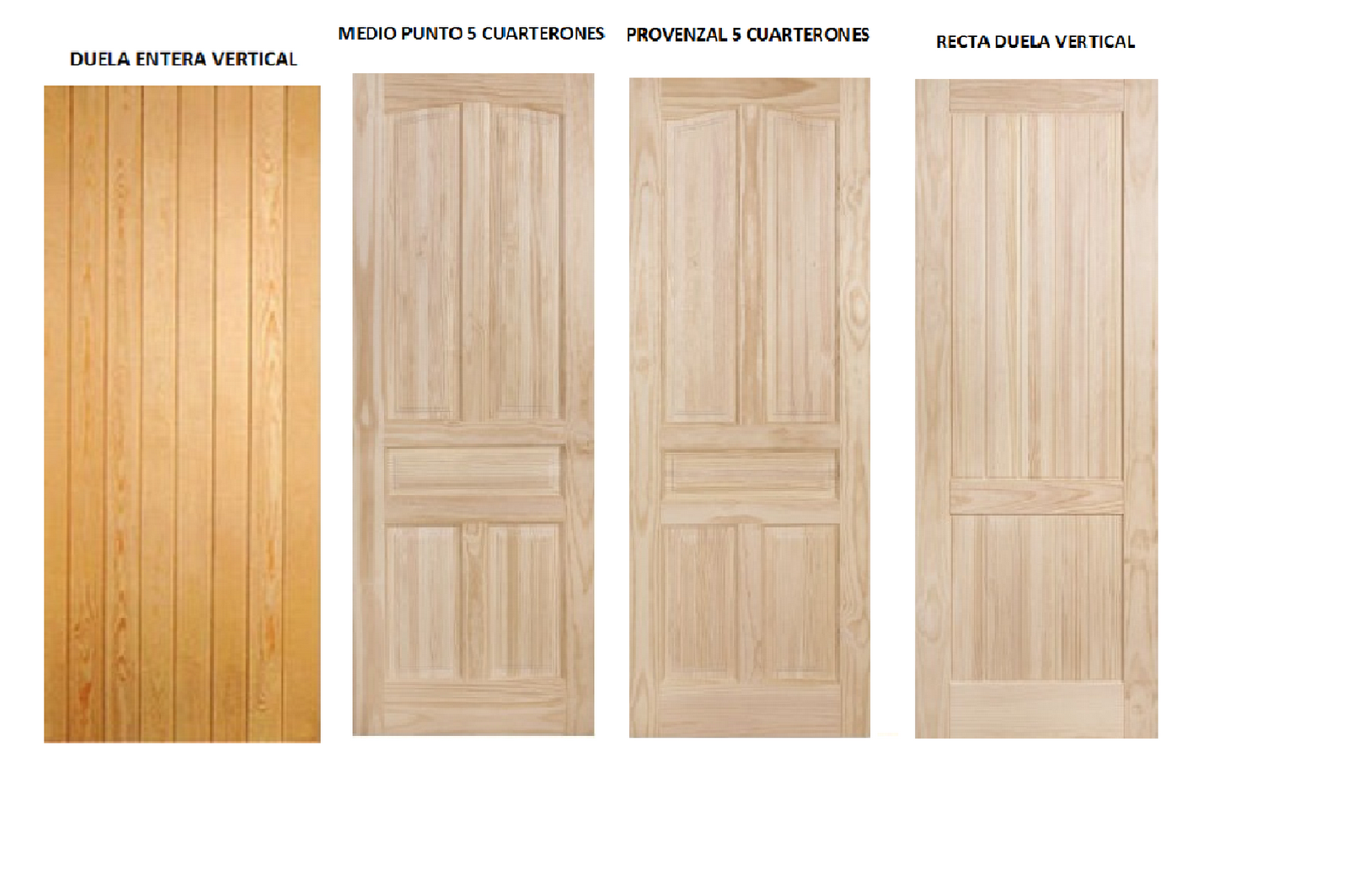 Puertas de exterior e interior puertas macizas en madera - Puertas de calle de madera ...