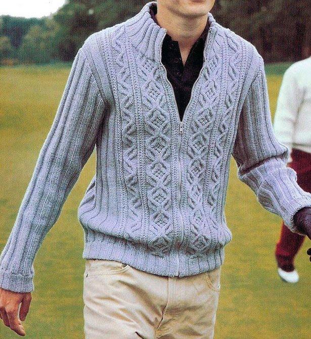 Knitting Patterns Jackets : MEN JACKET PATTERNS   Free Patterns
