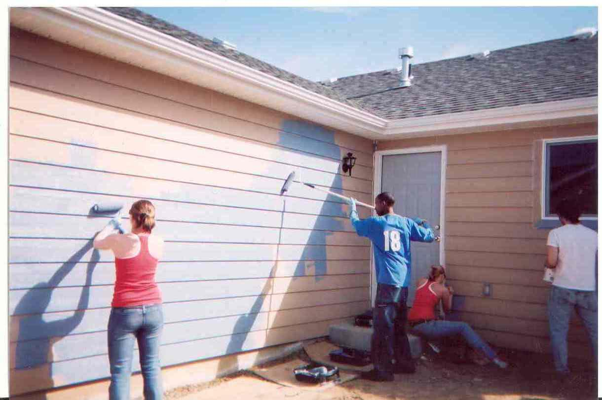 Paint House Beauteous With People Painting House Exterior Image