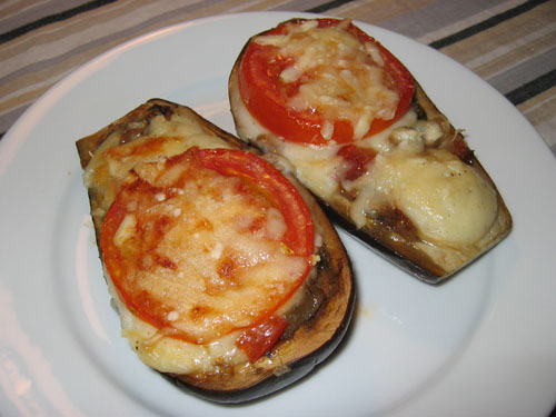 Melitzanes Papoutsakia (Stuffed Eggplant)