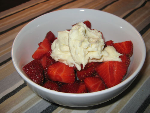Strawberries with Mascarpone and Honey
