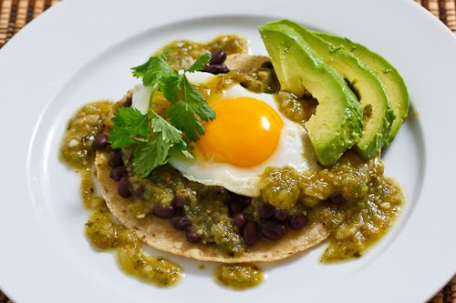 Salsa Verde Huevos Rancheros on Closet Cooking