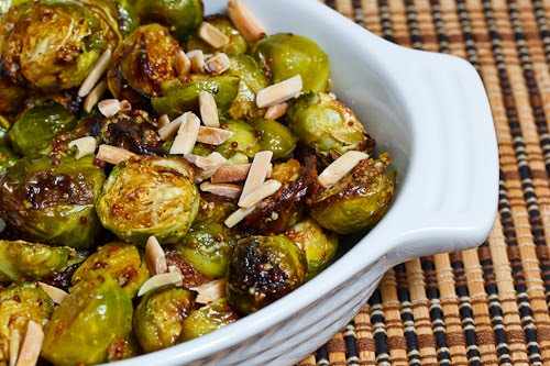 Maple Dijon Roasted Brussels Sprouts on Closet Cooking