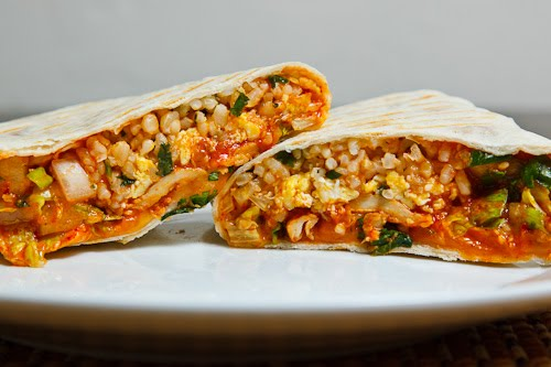 Korean Spicy BBQ Chicken Burrito
