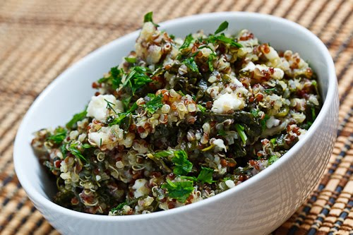 Spinach and Feta Quinoa Salad on Closet Cooking