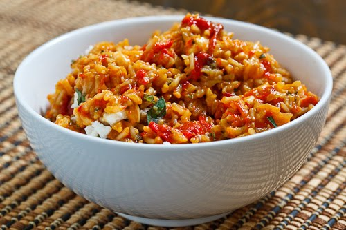 Roasted Red Pepper and Feta Rice