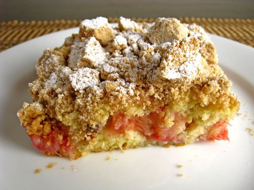 Rhubarb Crumb Cake
