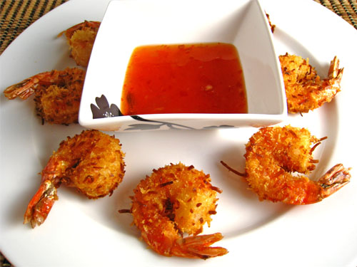 Coconut Shrimp with Apricot Sweet Chili Dipping Sauce on Closet ...