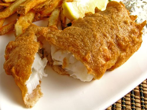Guinness Battered Cod