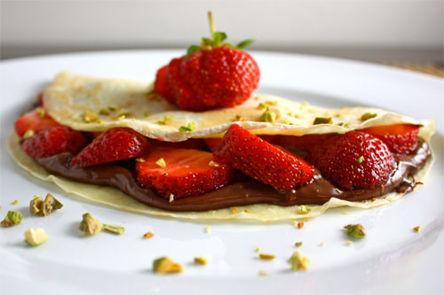 Strawberry And Nutella Crepes Recipes — Dishmaps