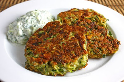 Greek Zucchini Fritters with Tzatziki