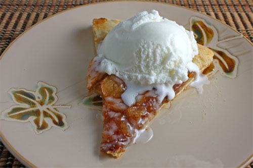 Apple Pie Pizza with Ice Cream