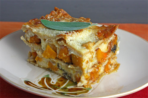 Roasted Butternut Squash Lasagna on Closet Cooking