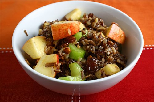 Apple Wild Rice Salad on Closet Cooking