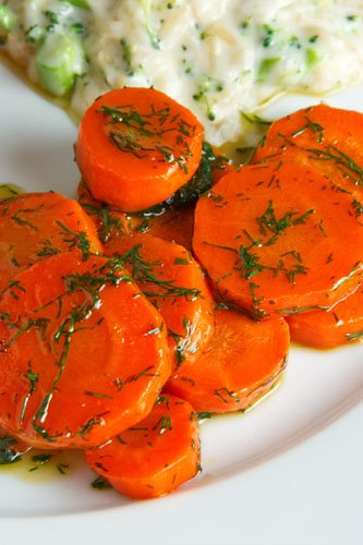 Maple Glazed Carrots with Dill on Closet Cooking