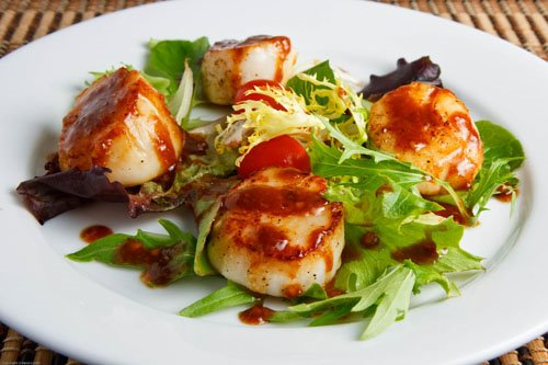 Maple and Miso Scallops