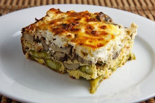 Asparagus, Mushroom and Goat Cheese Egg Breakfast Casserole on Closet ...