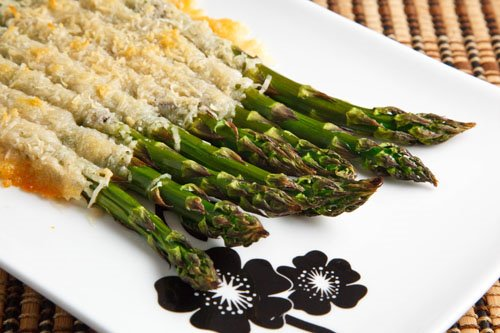 Roasted Asparagus Crusted with Parmigiano Reggiano on Closet Cooking