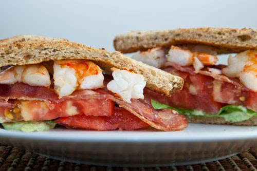 BLAST (Bacon, Lettuce, Avocado, Shrimp and Tomato) Sandwich on Closet ...