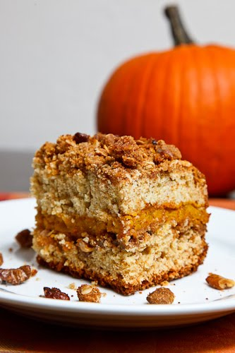 Sour Cream Pumpkin Coffee Cake on Closet Cooking