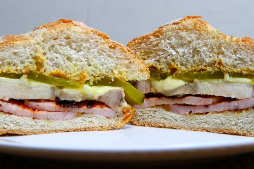 Roast Pork and Peameal Bacon Sandwich
