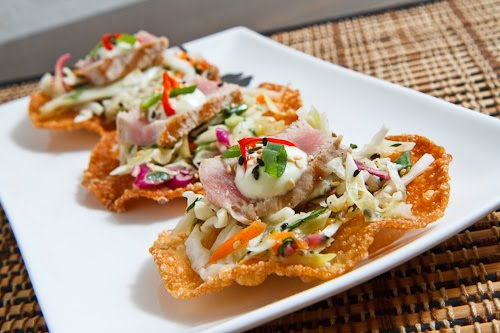 Ahi Tuna Tostadas