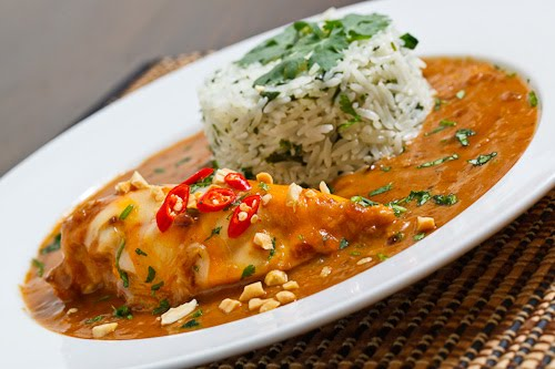 Thai Chicken 'Mole' with Coconut Cilantro Lime Rice