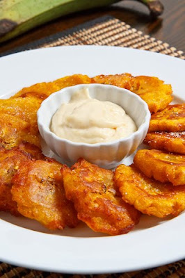 Tostones with Roasted Garlic Mayo