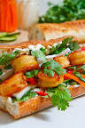 Vietnamese Caramel Shrimp Banh Mi