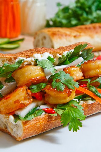 Vietnamese Caramel Shrimp Banh Mi on Closet Cooking