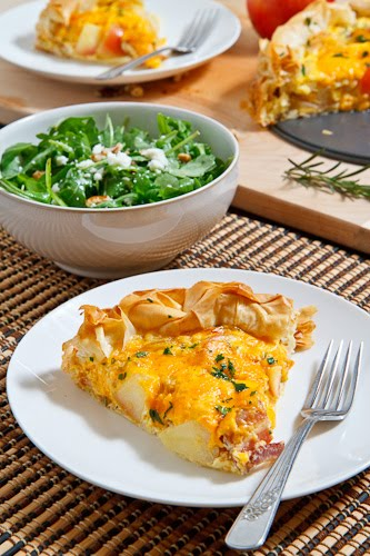Apple and Cheddar Quiche on Closet Cooking