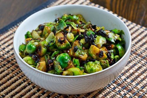 Brussels Sprouts in Black Bean Sauce on Closet Cooking