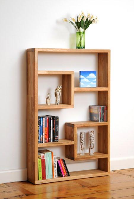 Style by amilka asymmetric shelves for Simple bookshelf designs for home