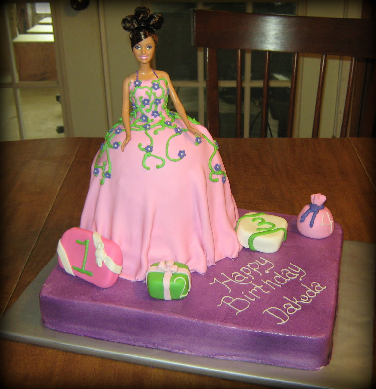 Barbie Cake with Gifts title=
