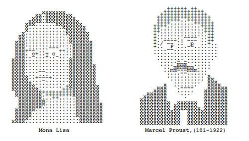 typing can make portraits symbols letters and numbers