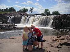 Squarrel, Show, and Krissy at the Falls!