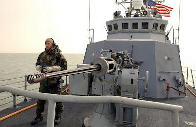 25mm Bushmaster autocannon on USS Chinook