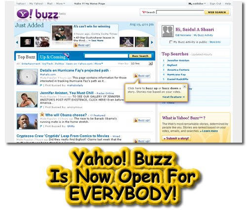 Yahoo! Buzz, Blogging