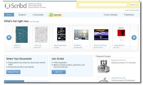 Scribd, iPaper, Google AdSense
