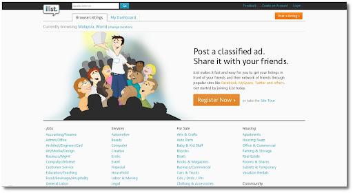 iList, Craigslist, Online classified service