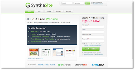 SynthaSite, Free Websites, Free Blogs, Free Hosting
