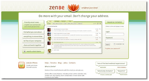 free, webmail, web based email, zenbe