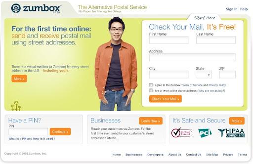 postal service online, email alternative, zumbox