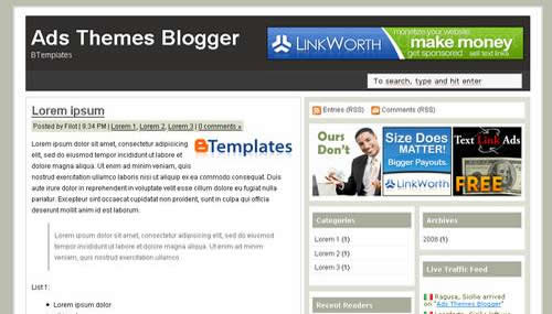 Free Blogger Templates: 10 Beautiful Web 2.0 templates
