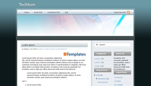 Free Blogger Templates: 7 Beautiful Web 2.0 templates